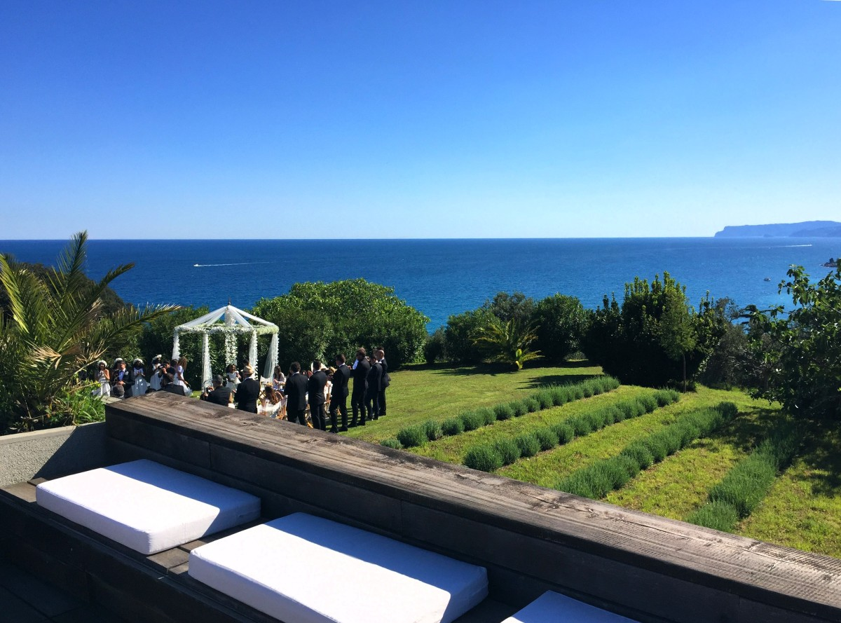 Orangerie di Villa Lagorio location per matrimoni in Liguria